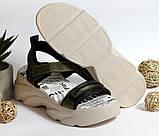0318 Женские босоножки Raffelli на плотной подошве. Цвет хаки , фото 7
