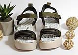 0318 Женские босоножки Raffelli на плотной подошве. Цвет хаки , фото 2