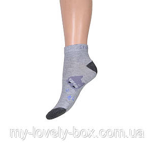 ОПТОМ.Носки женские заниженные спорт Jujube кошечка (A008-1) | 12 пар, фото 2