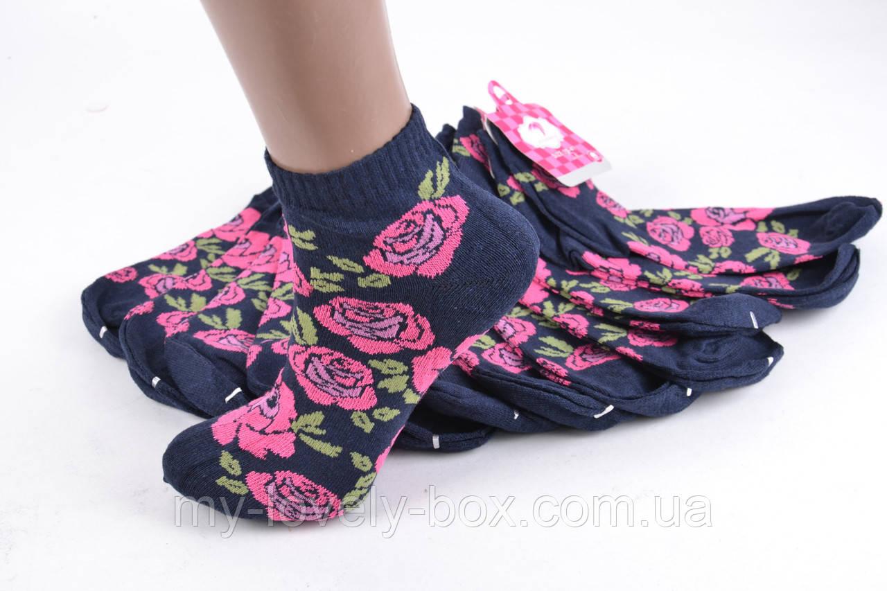 ОПТОМ.Женские носки заниженые с узором (TKB30/11) | 12 пар