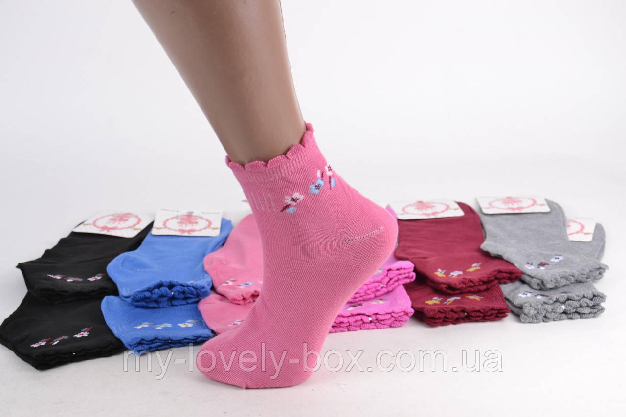 ОПТОМ.Женские заниженные носки с узором р. 37-41 (E149) | 12 пар