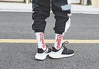 Высокие мужские носки с принтом Cocaine, White, фото 1