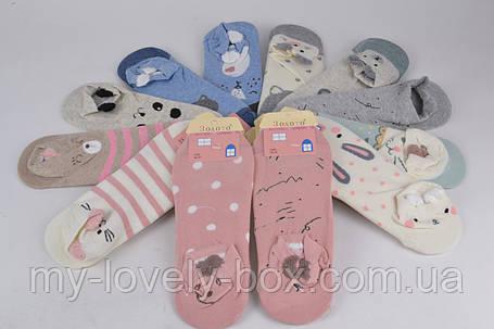 ОПТОМ.Женские заниженные носки ХЛОПОК (C403) | 12 пар, фото 2