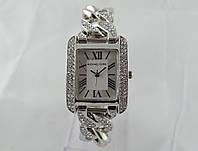 Часы женские Michael Kors плетеный браслет, прямоугольные, серебристые
