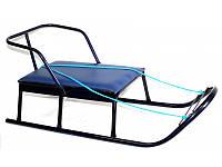 Санки Вихрь мягкое сиденье Синие (006fdas305)