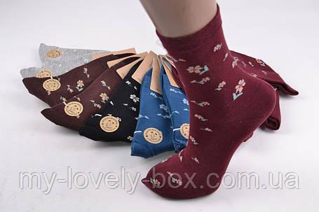 ОПТОМ.Женские носки с рисунком ХЛОПОК (HB2296/5) | 10 пар, фото 2