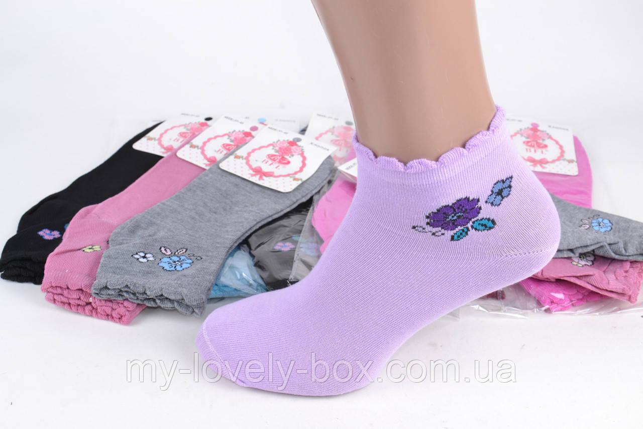 ОПТОМ.Женские Хлопковые носки с рисунком (E148) | 12 пар