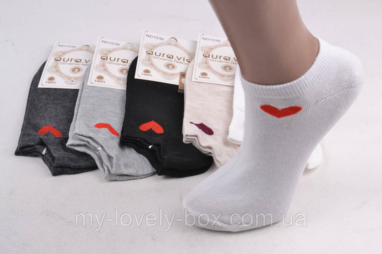 """ОПТОМ.Женские носки заниженные """"Cotton"""" (Арт. ND1038-7)   30 пар"""