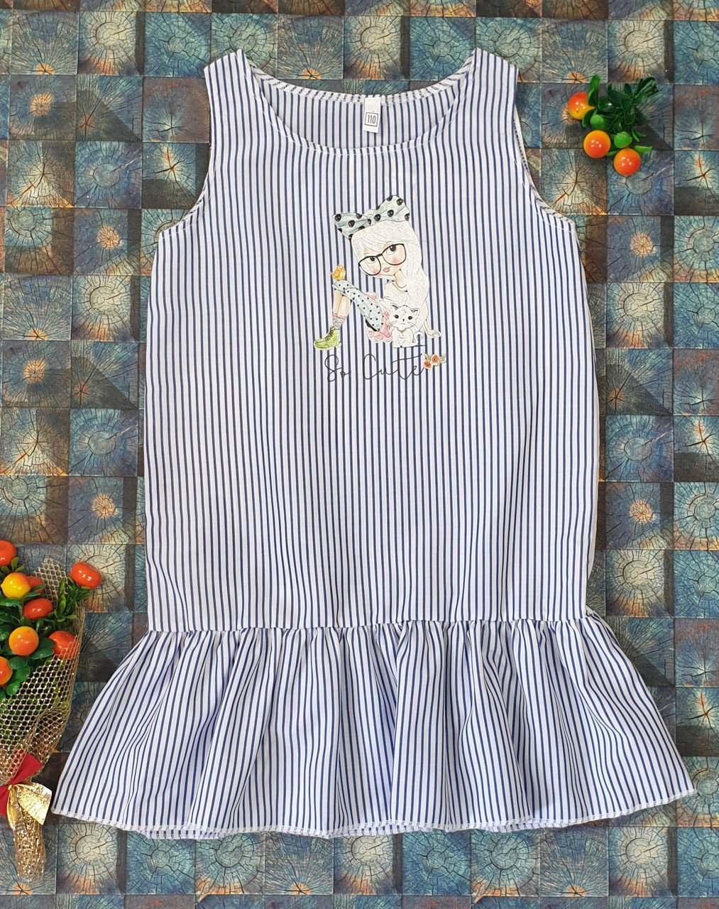 Платье в полоску на лето р.110-128 опт