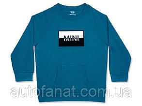Оригинальная детская толстовка MINI Logo Patch Sweatshirt Kids, Island (80142460842)
