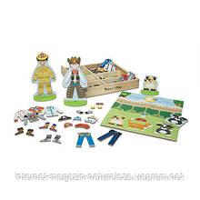 Деревянный набор с магнитными фигурами Деятельность Melissa&Doug