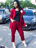 Женский костюм летний льняной,женские большие костюмы, фото 1