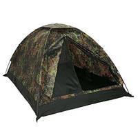 Палатка трехместная MIL-TEC Iglu Standard Немецкий камуфляж