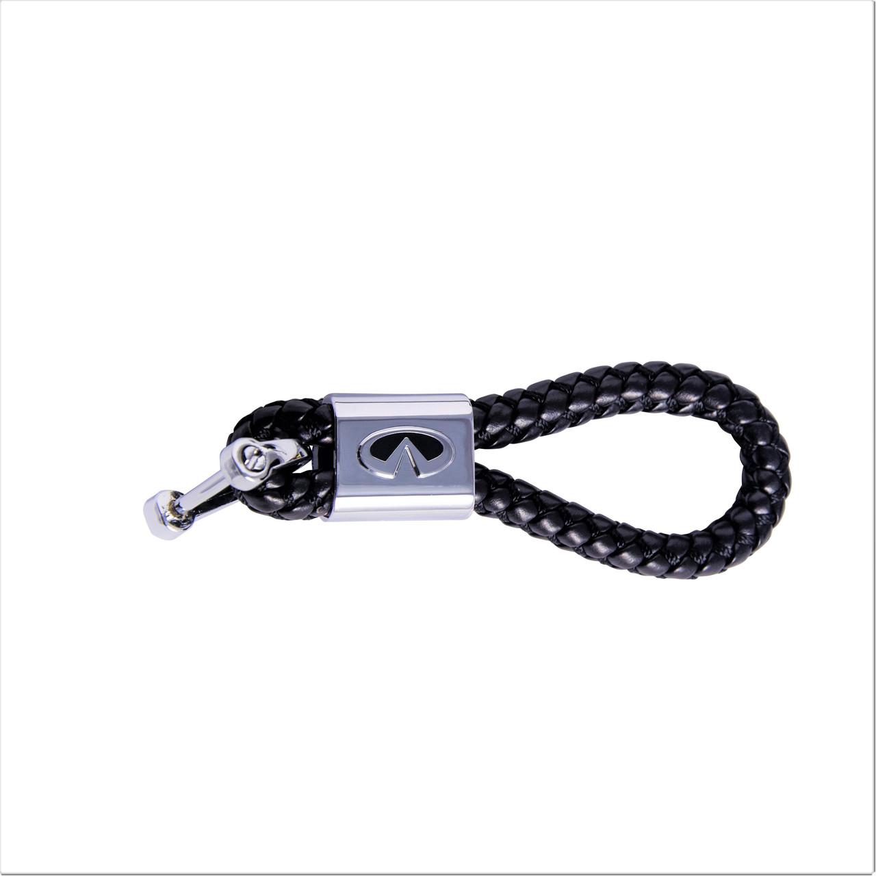Кожаный брелок для Infiniti Luxury Черный (kb-275-blk-n-Infiniti)