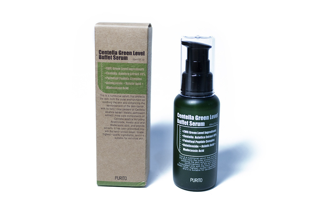 Увлажняющий серум для восстановления кожи с центеллой PURITO Centella Green Level Buffet Serum