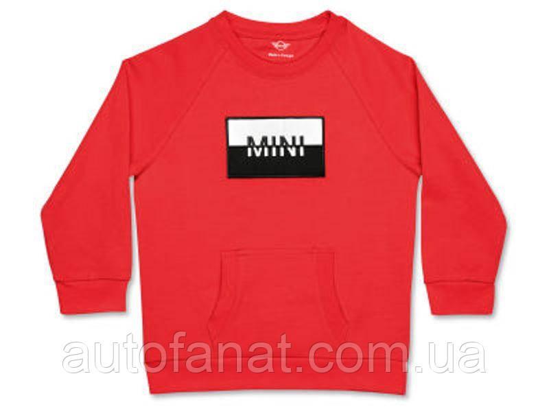 Оригинальная детская толстовка MINI Logo Patch Sweatshirt Kids, Coral (80142460836)