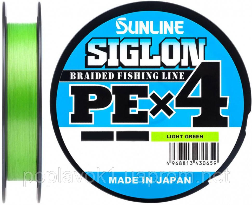 Шнур Sunline Siglon Pe х4 150м салатовий (#3.0/0.296 мм 50lb/22.0 кг)