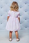 Платье детское с рукавами воланчиками Розовое , фото 2