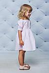Платье детское с рукавами воланчиками Розовое , фото 3