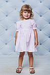 Платье детское с рукавами воланчиками Розовое , фото 4