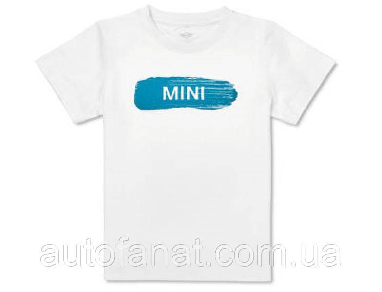 Оригинальная детская футболка MINI Wordmark T-Shirt Kids, White/Island (80142460830)