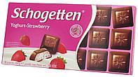 Шоколад молочный Schogеtten Yoghurt-Strawberry (с Клубничным йогуртом) 100г