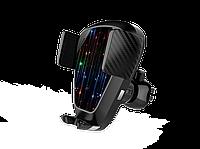 Беспроводное автомобильное зарядное устройство Qitech Sensor Auto V7 2в1, черное (QT-V7), фото 1
