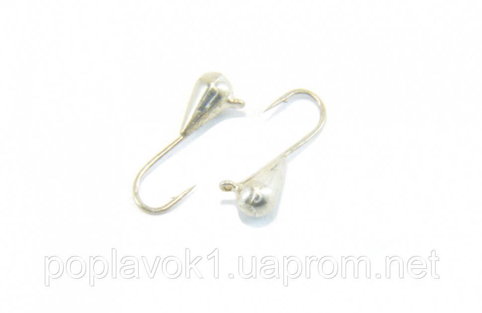 Мормышка вольфрамовая Маленька капля с петелькой 3мм (серебро)