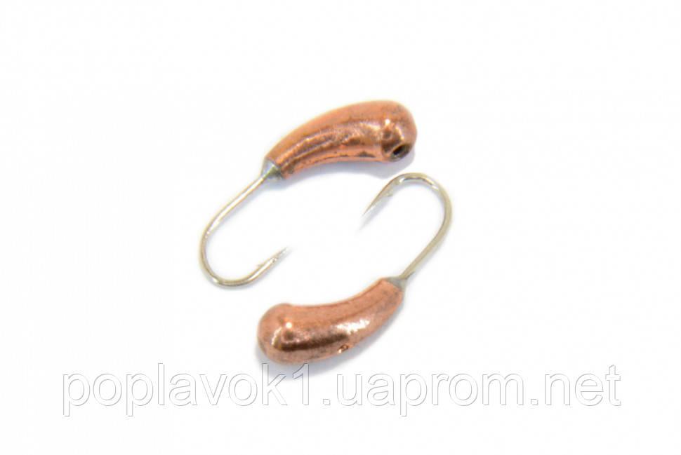 Мормышка вольфрамовая Уралка с отверстием 3мм (медь)