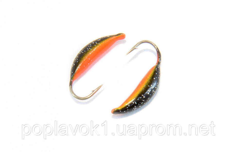 Мормышка вольфрамовая Банан 3мм (черно-оранжевый)