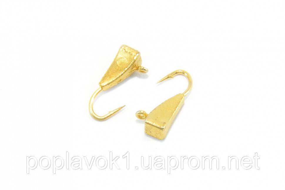 Мормышка вольфрамовая Каблучек 3мм (золото)