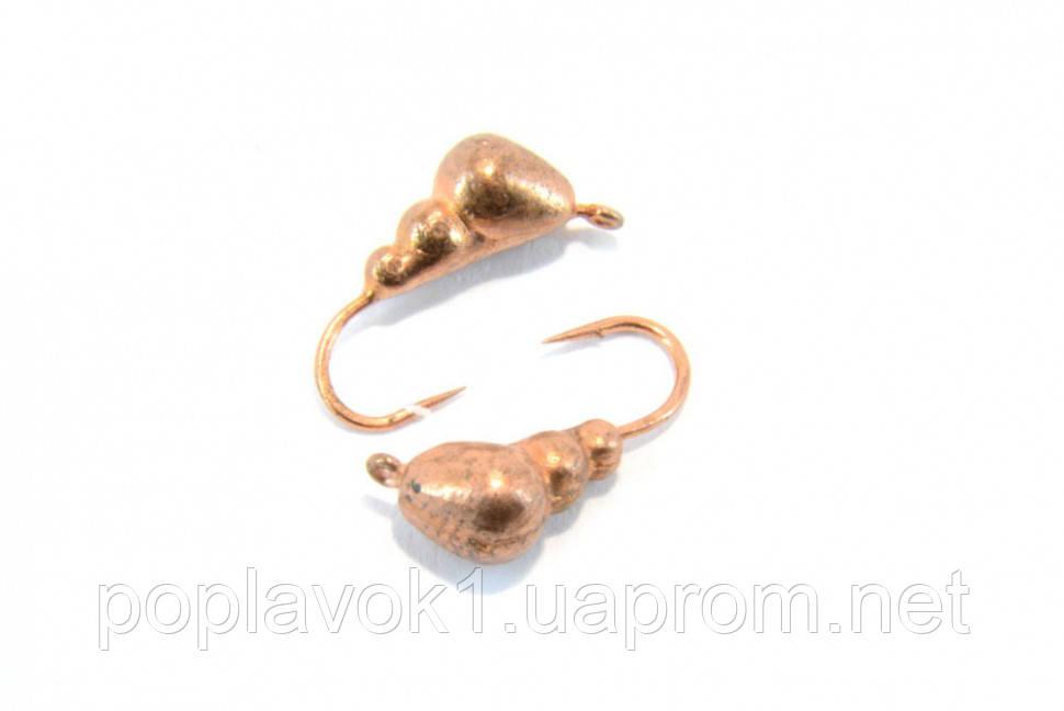 Мормышка вольфрамовая Муравей 3мм (медь)