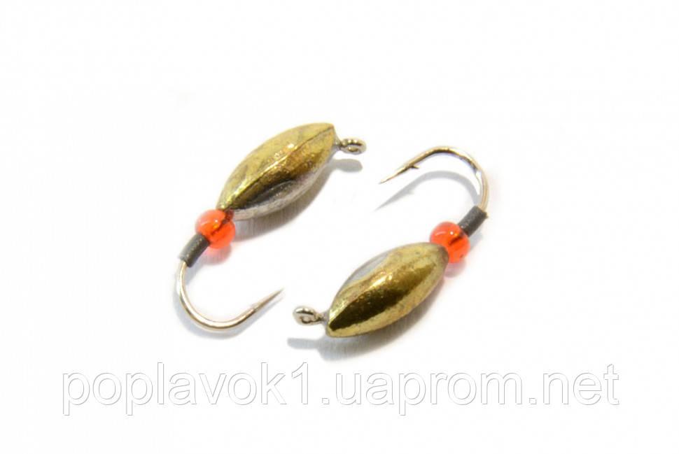 Мормишка вольфрам Насіння з петелькою (золото) 3.5 мм