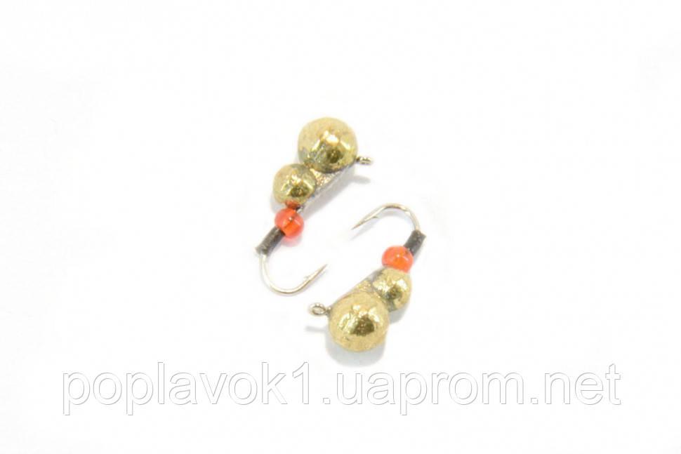 Мормышка вольфрамовая Муравей 3мм (Золото)