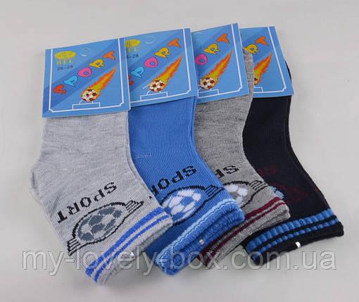 ОПТОМ.Детские носки Мячи однотонные р.26-28 (C195/M) | 12 пар, фото 2