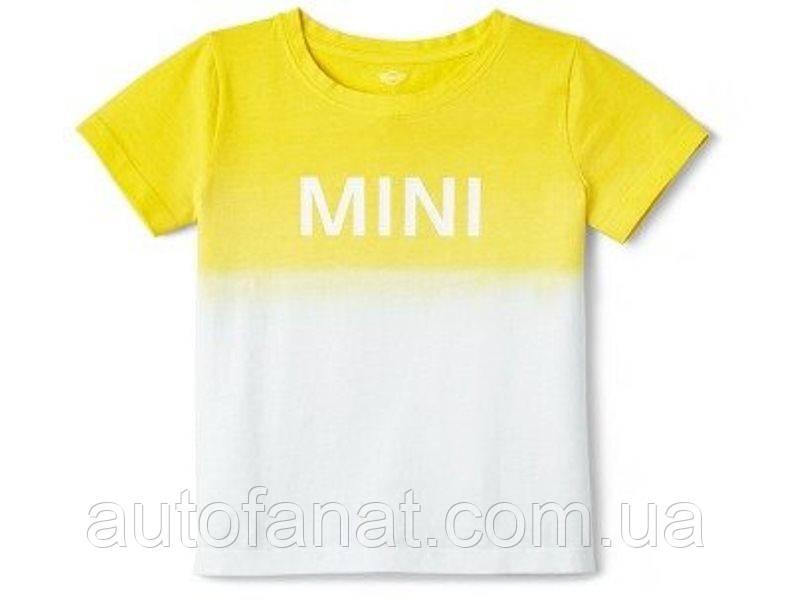 Оригинальная детская футболка MINI T-Shirt Kids Dip-Dye, White/Lemon (80142445646)