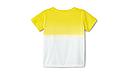 Оригинальная детская футболка MINI T-Shirt Kids Dip-Dye, White/Lemon (80142445646), фото 2