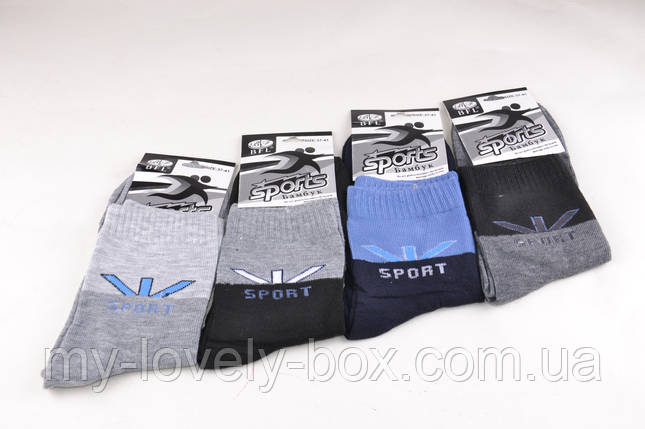 ОПТОМ.Подростковые носки однотонные Спорт (B396) | 12 пар, фото 2