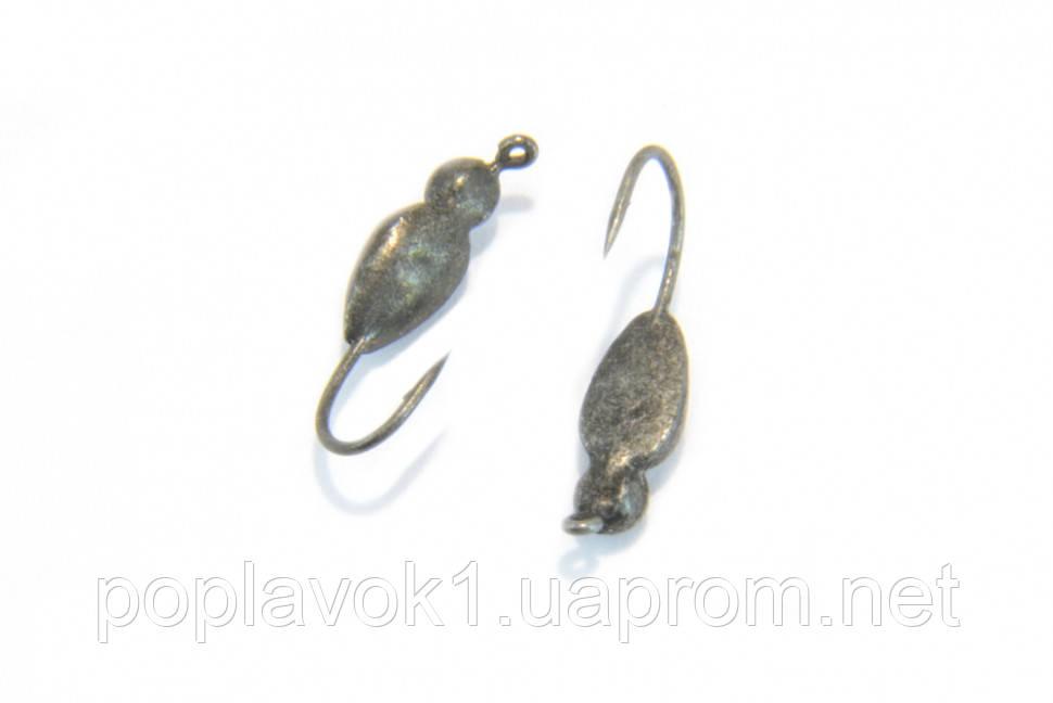Мормышка вольфрамовая Жук 3мм (Черная)