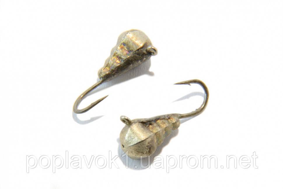 Мормышка вольфрамовая Капля граненая с петелькой 4мм (серебро)