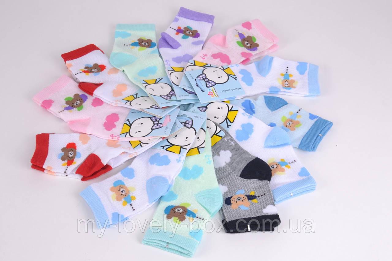 ОПТОМ.Детские носки сеточка Мишки р.0-3 года (B2675/0-3)   12 пар