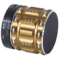 Колонка BL Lesko S-28 золотистая с функцией Bluetooth-спикера поддержка памяти в металлическом корпусе mp3, фото 3
