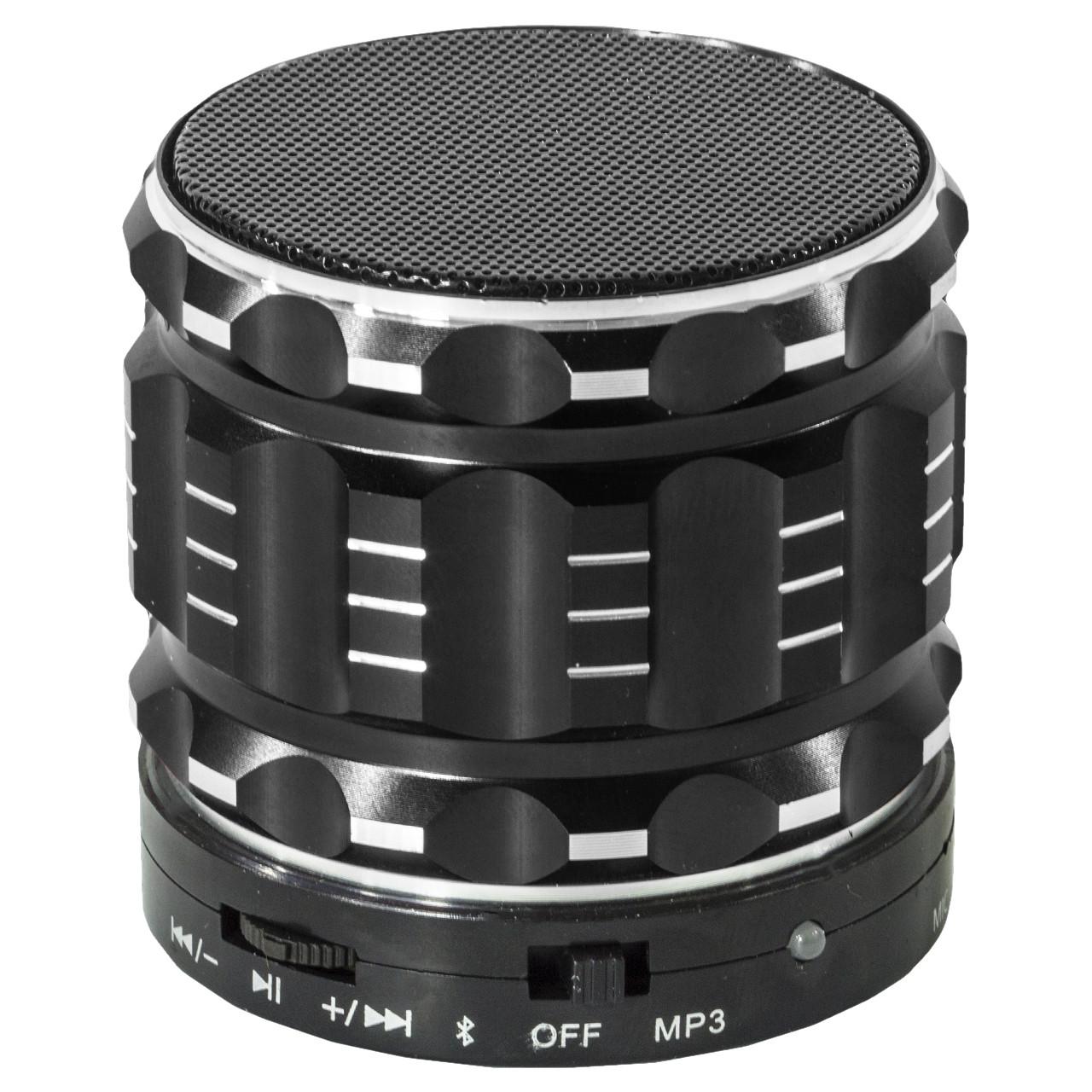 Колонка BL Lesko S-28 черная с функцией Bluetooth-спикера поддержка карты памяти в металлическом корпусе mp3