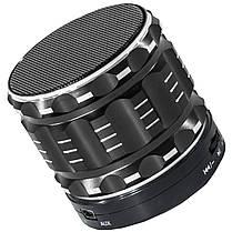 Колонка BL Lesko S-28 черная с функцией Bluetooth-спикера поддержка карты памяти в металлическом корпусе mp3, фото 2