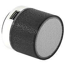 Портативная колонка Lesko BL S60U черная подсветкой Bluetooth мощный USB microSD картой памяти аккумулятором, фото 2