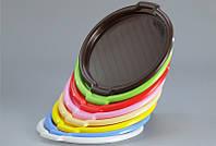Поднос (разнос) пластиковый круглый Ø 34 см Горизонт