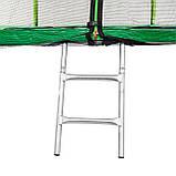 Батут Atleto 252 см с двойными ногами с сеткой зеленый, фото 4