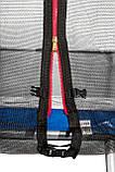Батут Atleto 374 см с двойными ногами синий, фото 3
