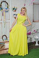 Платье в пол летнее желтое, фото 1