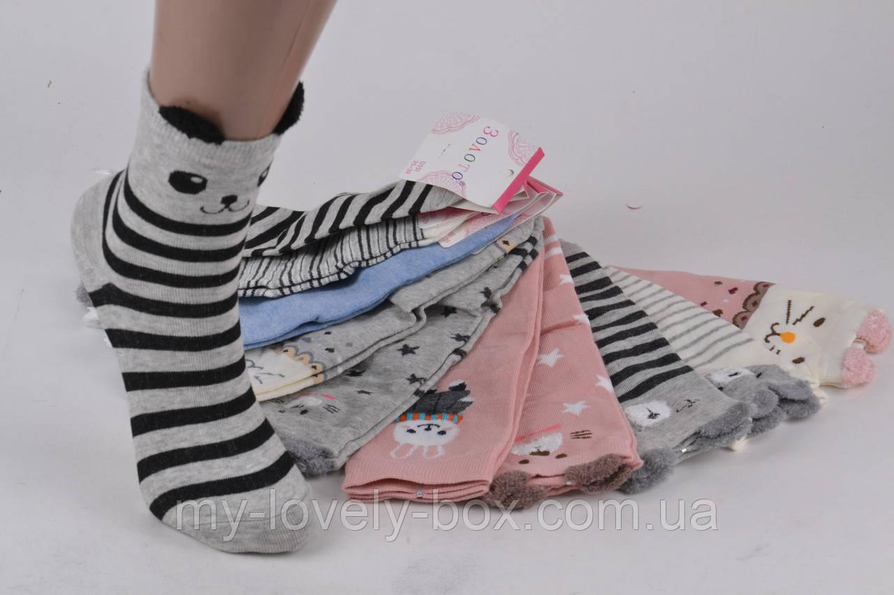 ОПТОМ.Детские Хлопковые носочки Мордочки (D351/35-39) | 10 пар